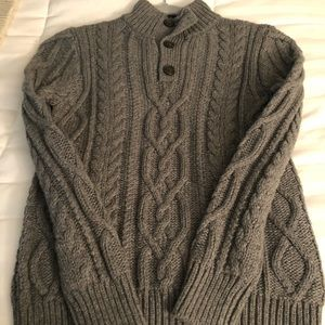 Boys Gap grey cable knit sweater. Never used size8